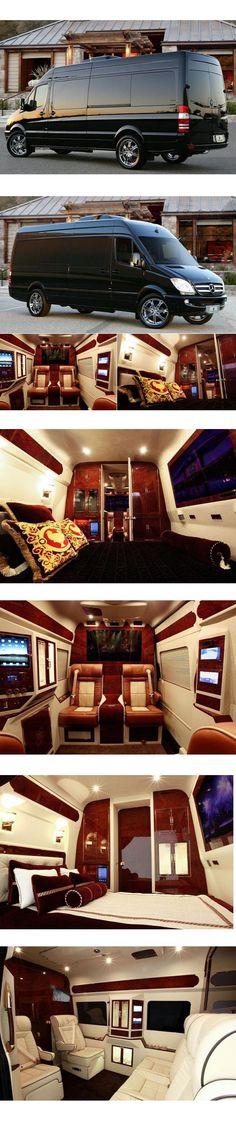 $300,000 Mercedes Sprinter Van by Lexani Motorcars boasts a full-sized luxury bedroom