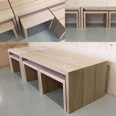 Saunan lauteet / Sauna benches #saunanlauteet #saunabenches #woodyoy #woody Sauna Design, Dining Table, Woody, Benches, Furniture, Instagram, Home Decor, Banks, Decoration Home