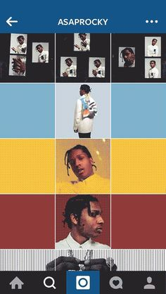 A$AP Rocky collaborated with artist Robert Gallardo to transform his Instagram feed into an abstract work of art. | A$AP Rocky Has The Coolest Instagram You've Ever Seen Instagram Collage, Cool Instagram, Instagram Design, Asap Rocky Instagram, Instagram Feed Tips, Instagram Feed Layout, Instagram Banner, Instagram Grid, Instagram Blog