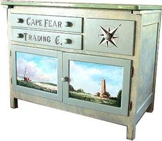 artist, Henry Bowers hand painted furniture.  If your not an artist, place pictures in those spaces