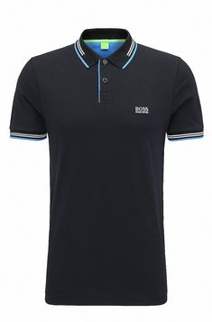 d30ab3db8 Slim-fit stretch-cotton polo shirt with contrast tipping. Hugo BossPolo ...