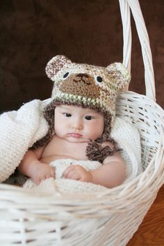 Crochet Milticolor Cool Bear Hat 3m  6m by AmiAmigos on Etsy, $22.00