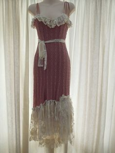 vintage inspired stretch pink lace and ivory ruffle by wildskin, $65.00