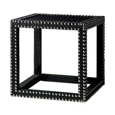 Marco Nailhead Low Table in Black from #PoshLiving #fierce #posh #homedecor #blackandwhite