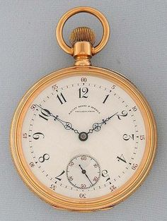 Bogoff Antique Pocket Watches Patek Philippe 20 Jewel 18K Special - Bogoff Antique Pocket Watch # 6791