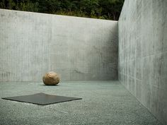 courtyard of the Lee Ufan Museum