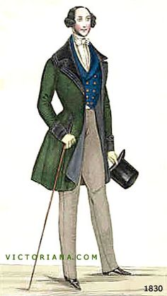 love the frock coat and waistcoat colors