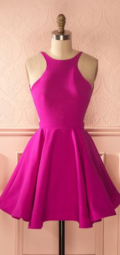 #fuchsia #satin #prom #party #evening #dress #dresses #gowns #cocktaildress…