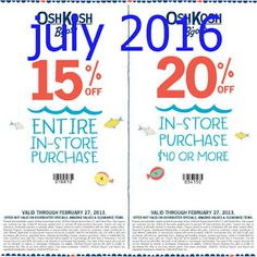 OshKosh B'gosh Coupons Ends of Coupon Promo Codes MAY 2020 ! and times holiday the incl. Cheap Hobbies, New Hobbies, Hobbies Creative, Coupons For Boyfriend, Hobbies For Adults, Coupon Stockpile, Free Printable Coupons, Oshkosh Bgosh, Love Coupons