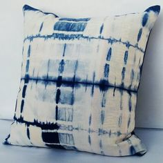 Abstract Decorative Pillow Cases Indian Tie Dyed Indigo Blue Cushion Covers Interior Home Sofa Cushion Christmas Gifts Shibori Gypsy Pillows Decorative Pillow Cases, Throw Pillow Cases, Pillow Covers, Throw Pillows, Shibori, Blue Cushions, Cushions On Sofa, Blue Cushion Covers, Handmade Cushions