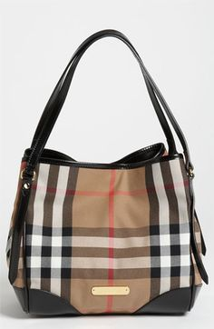 Burberry 'Canterbury - Small' House Check Over Shoulder Tote available at #Nordstrom ~I really want this!!!