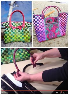 I love this simple idea. How to make your own sturdy and shaped bag handles - video. I didn't know it was this easy! Looking for excuses to add these handles to ALL my bag sewing projects.