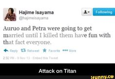 Did he really post that? Oh My God Isayama, you psychotic genius.