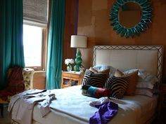 brown and turquoise bedroom ideas