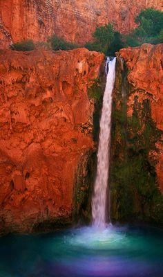 ✮ Mooney Falls in the Havasupai Indian Reservation in Arizona