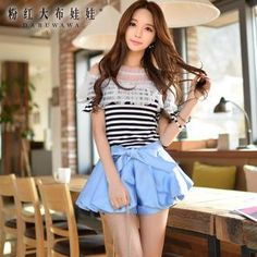 Buy 'Dabuwawa – Tie-Waist Puff Shorts' with Free International Shipping at YesStyle.com. Browse and shop for thousands of Asian fashion items from China and more!