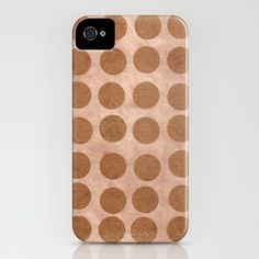 Gold Dots_Sand - iPhone Case by Garima Dhawan