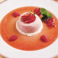 Pudding glacé aux fraises