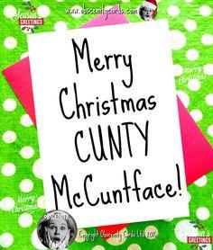 Naughty Santa, Naughty Christmas, Christmas Jokes, Funny Christmas Cards, Merry Christmas, Dark Christmas, Asshole Quotes, Funny Quotes, Retro Humor