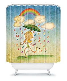 Take a look at this Rain Shower Curtain by DENY Designs on #zulily today!