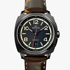Marvin Malton Military Cushion Special Edition Watch - #Watches #Marvin
