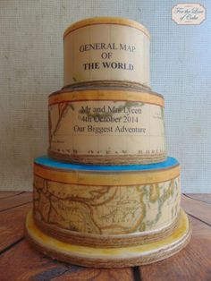 Vintage map wedding cake - Cake by For the love of cake (Laylah Moore)