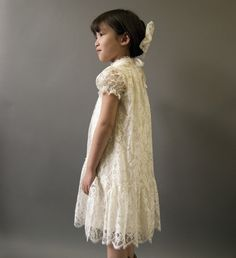 Victorian Lace Flower Girl Dress Victorian Communion by FoxnLily