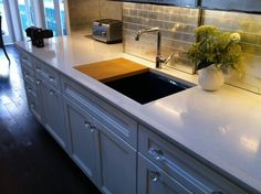 Kitchen Of The Year in Rockefeller center is underway! Here's a pic of the Kraftmaid cabinetry, equipped with CoreGuard to prevent under-sink damage!
