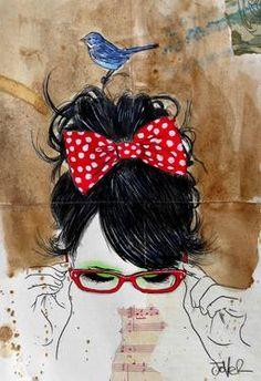 """Saatchi Art Artist Loui Jover; Drawing, """"a little blue, a little red and a little green"""" #art"""