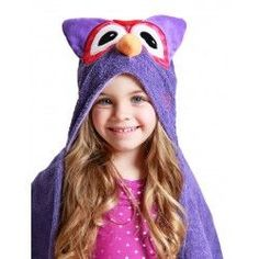 This comfy hooded towel will keep kids warm and dry after bath time or swimming, and it suitable for all ages. These hooded towels are machine washable and measure x plus the attached hood. Name can be added on the back of the towel, just below the hood. Toddler Towels, Kids Hooded Towels, Hooded Bath Towels, Elephant Blanket, Owl Kids, Terry Towel, Personalized Baby Blankets, Pool Towels, Baby Store