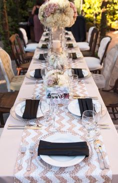 Glam wedding tablescape {Photo courtesy of Franciscan Gardens}