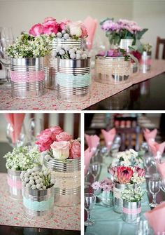 Garden party centerpieces decoration 54 ideas for 2019 Wedding Decorations, Christmas Decorations, Table Decorations, Party Centerpieces, Decoration Evenementielle, Deco Champetre, Ideas Para Fiestas, Diy Wedding, Floral Arrangements
