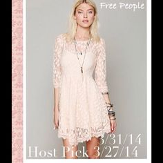 I just added this to my closet on Poshmark: 2x Host Pick!💖 Free People Floral Lace Mesh DressNWT. Price: $85 Size: 8
