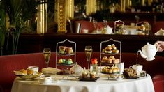 Take time out from Christmas shopping on Regent Street to sample festive themed afternoon tea in the heart of London's shopping paradise. Book your tea time at the Hotel Cafe Royal today!