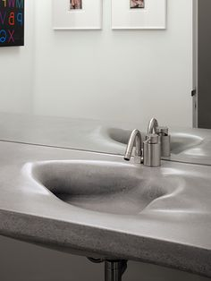 Sink and counter detail of the Gallery House by Ogrydziak Prillinger Architects. Lavabo de diseño