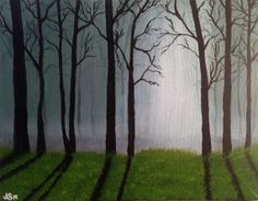 Original Acrylic Painting on Canvas 11x14 Mystic Forest Wall Art Home Decor on Etsy, $45.00