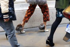 street style '14 furry shoes..