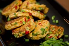 Fresh fish blended with a spicy curry paste, vegetables and a bit of egg, then pan fried.