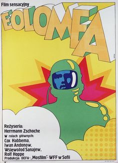 "design-is-fine: ""Maciej Zbikowski, film poster for Eolomea, Poland. East-German film production by Herrmann Zschoche. Via polishposter "" Polish Movie Posters, Film Posters, Great Sci Fi Movies, Psychedelic Space, 70s Sci Fi Art, Beautiful Posters, Science Fiction, Eastern Europe, Age Photo"