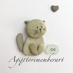 Kitten from small rocks