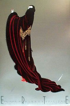 Soirée Art Deco by Erte Arte Art Deco, Moda Art Deco, Art Deco Artists, Estilo Art Deco, Art Deco Posters, Vintage Posters, Vintage Art, Vintage Witch, Art Deco Illustration