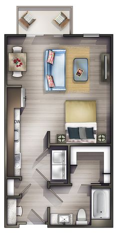 Studio Apartments Nashville | Peyton Stakes Luxury Apartments: S1  1 Bed | 1 Bath 578 Sq. Ft. Starting At $1511