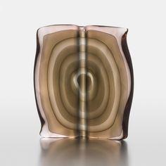 """TIMO SARPANEVA - Glass sculpture """"Liber Mundi"""" executed at the Studio Pino Signoretto, 1999, Murano, Italy. Glass Design, Design Art, Lassi, Scandinavian, Glass Art, Sculpture, Studio, Pine, Sculptures"""