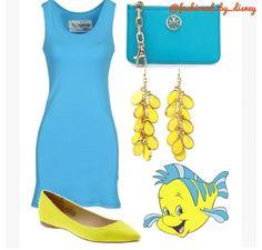 Flounder :) disney outfits :)