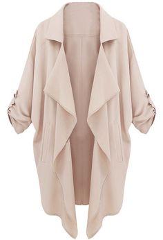 Abrigo casual beige