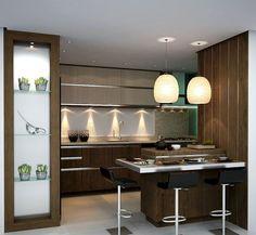 Коричневая кухня: оформление интерьера в шоколадных оттенках и 85 теплых и уютных воплощений http://happymodern.ru/korichnevaya-kuxnya-foto/ Грамотное сочетание коричневого и белого поможет сделать кухню визуально больше