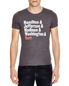 Creative Goods Hamilton Presidents Grahpic Tee