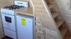 Slabtown Customs new tiny house cabin The Gwenny Kay, via YouTube. I LOVE the lower loft idea