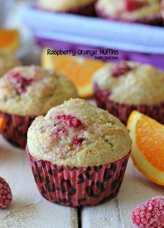 Raspberry Orange Muffins (wonder if I can use dōTERRA's Wild Orange EO instead of orange zest!?)