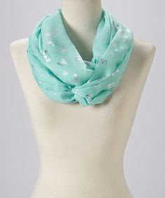 Loving this Blue & Silver Butterfly Infinity Scarf on #zulily! #zulilyfinds